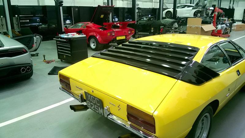 Lamborghini Urraco in dealer